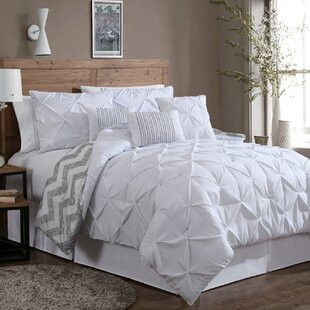 grey and white king comforter King Size White Comforters & Sets You'll Love | Wayfair grey and white king comforter
