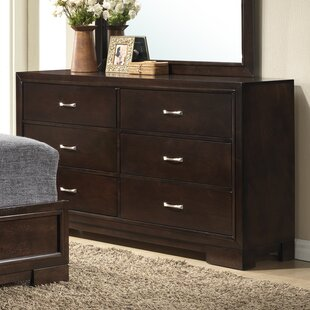 Ebern Designs Peasely 6 Drawer Double Dresser