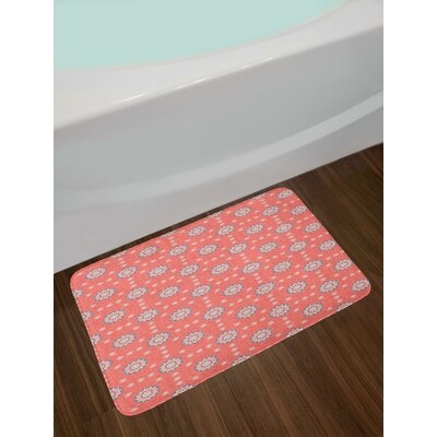 Paisley Bath Mat Blue