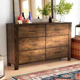 Spencyr 6 Drawer Double Dresser with Mirror