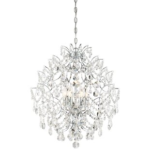 Isabella's Crown 6-Light Crystal Pendant by Minka Lavery
