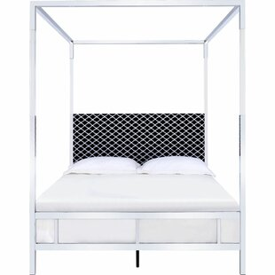 Glasper Queen Upholstered Canopy Bed by Everly Quinn