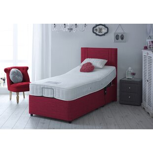 Jenny Upholstered Adjustable Bed With Mattress By Symple Stuff