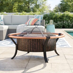 Amalfi Rail Steel Wood Burning Fire Pit By Sol 72 Outdoor