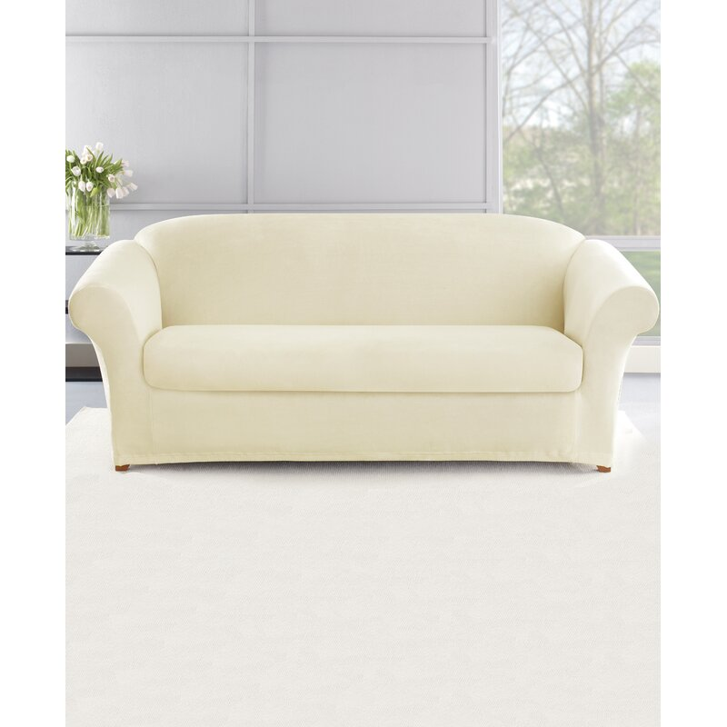 Sure Fit Stretch Plush 2 Piece Sofa Slipcover Set | Wayfair