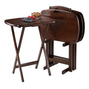 Lucca Tray Table Set With Stand Of 4