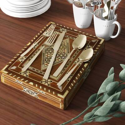 Restaurant Table Place Settings Silver Service Kitchen Medium Metal Tin Sign