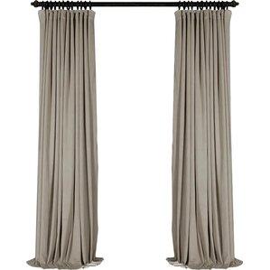 signature extra solid max blackout rod pocket single curtain panel