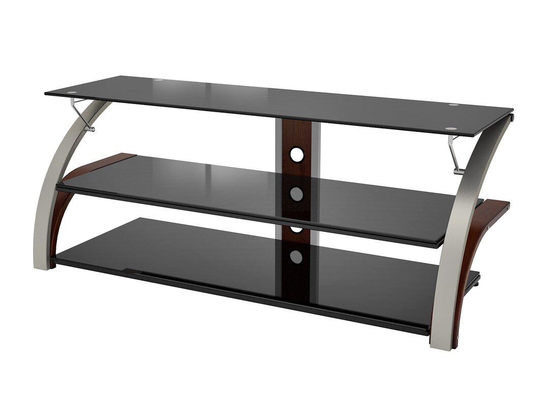 jase tv stand. chrome glass tv stands you'll love  wayfair
