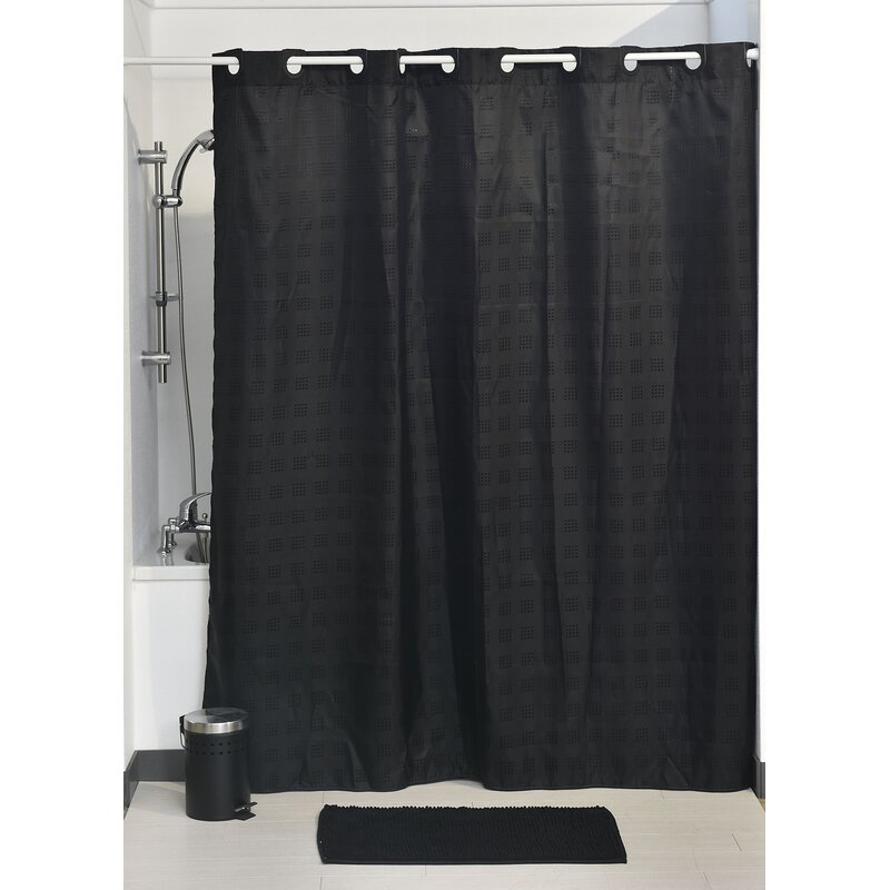 Evideco Hookless Shower Curtain