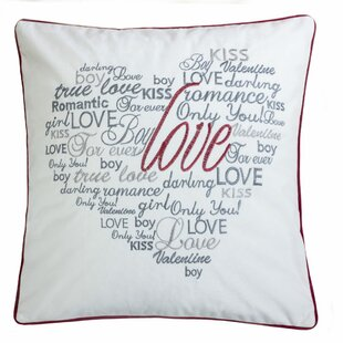 Duplantis Valentine Day Embroidery Velvet Throw Pillow