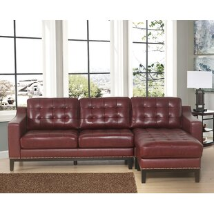 Jeri Leather Reversible Sectional Darby Home Co