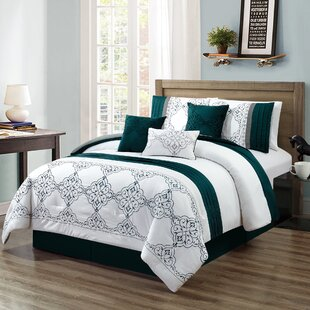 Hymel Embroidery 7 Piece Comforter Set