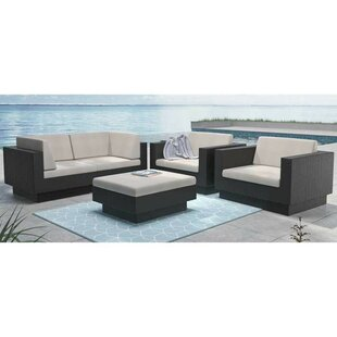 Chretien Deep Seating Group with Cushions By Brayden Studio