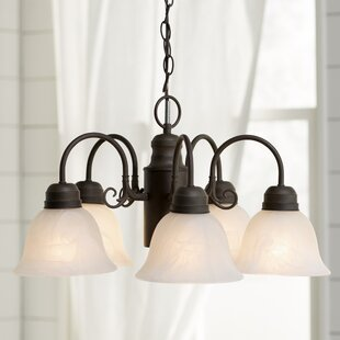 Barre Arc 5-Light Shaded Chandelier by Three Posts