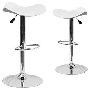 Tristan Adjustable Height Swivel Bar Stool (Set of 2)