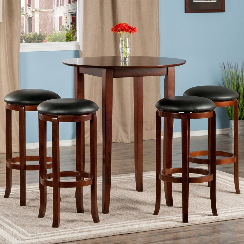 winsome fiona 5 piece pub table set reviews wayfair. Black Bedroom Furniture Sets. Home Design Ideas