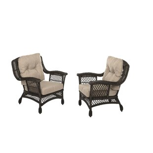 Demott Outdoor Garden Arm Chairs (Set of 2) by Highland Dunes