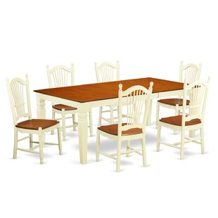 Beesley 7 Piece Extendable Solid Wood Din..