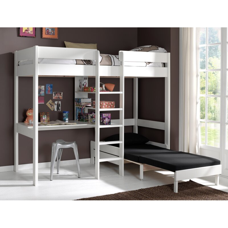 391439c64cad Vipack Pino European Single High Sleeper Bed with Desk and Chair |  Wayfair.co.uk