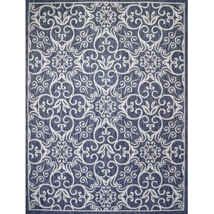 Satterwhite Navy Indoor/Outdoor Area Rug