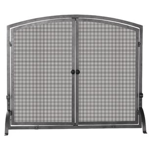 Olde World Single Panel Iron Fireplace Screen by Uniflame Corporation