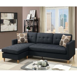 sale retailer 5d1a9 bf8da Black Studded Sectional | Wayfair