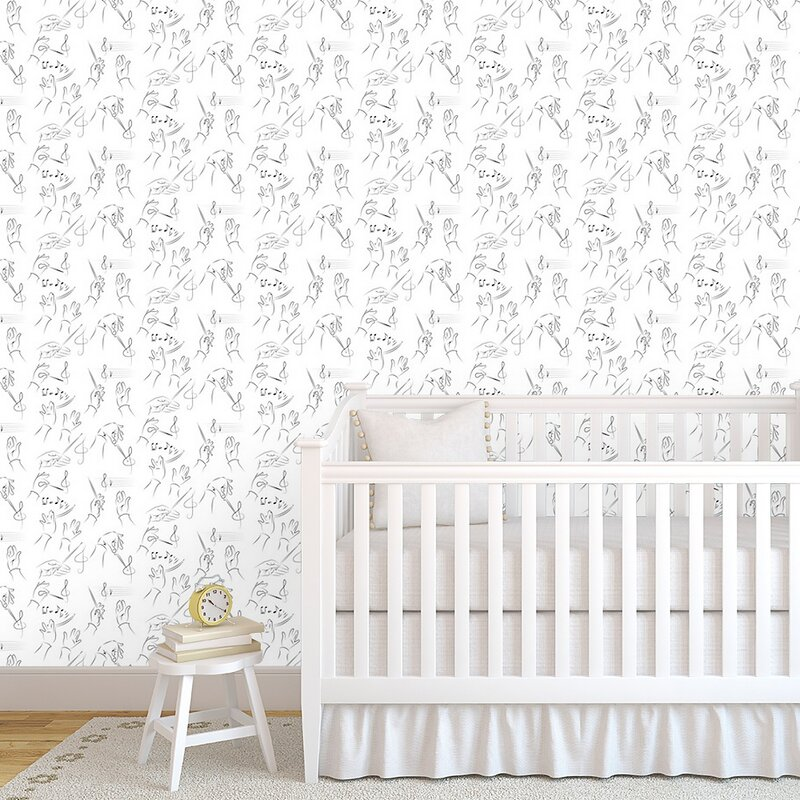 Peel-and-Stick Removable Wallpaper Rock And Roll Music Retro Vintage Spot