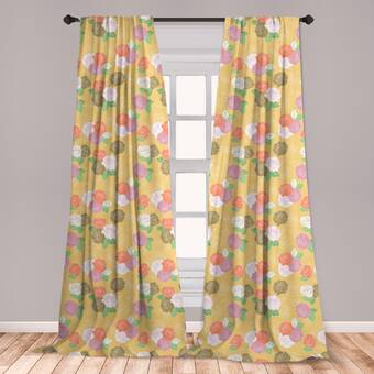August Grove Gladeview Floral Room Darkening Rod Pocket Curtains Drapes Reviews Wayfair