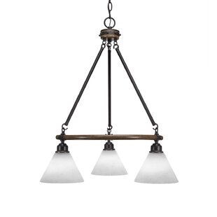 Pujari 3-Light Wagon Wheel Chandelier by ..