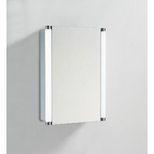 Chouinard 50 X 50cm Surface Mounted Mirror Cabinet With LED Lightning By Belfry Bathroom