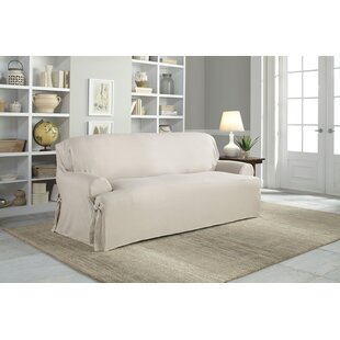 Serta Cotton Duck T-Cushion Sofa Slipcover