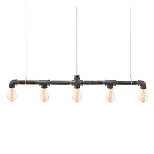 Trent Austin Design Kennesaw Bar Linear Suspension 5-Light Kitchen Island Pendant