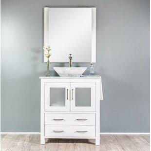Review Leena 30 Single Bathroom Vanity Set with Mirror by Wrought Studio