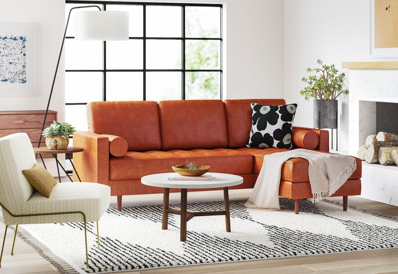 Strange Ainslee Leather Reversible Modular Sectional With Ottoman Machost Co Dining Chair Design Ideas Machostcouk