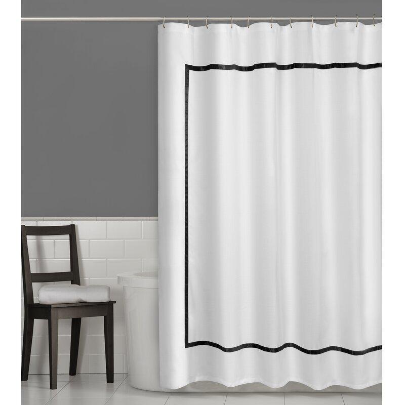 Maytex Hotel Border Single Shower Curtain Reviews