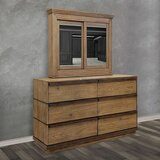 Anthea 6 Drawer Double Dresser with Mirror by Loon Peak®