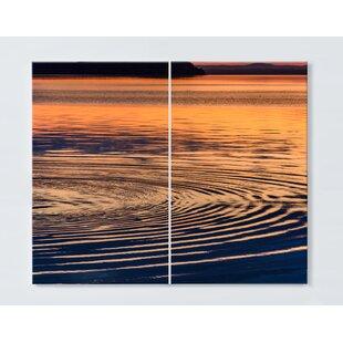 Water Motif Magnetic Wall Mounted Cork Board By Ebern Designs