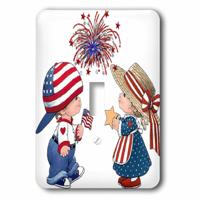 3drose Child And Fireworks 1 Gang Toggle Light Switch Wall Plate Wayfair