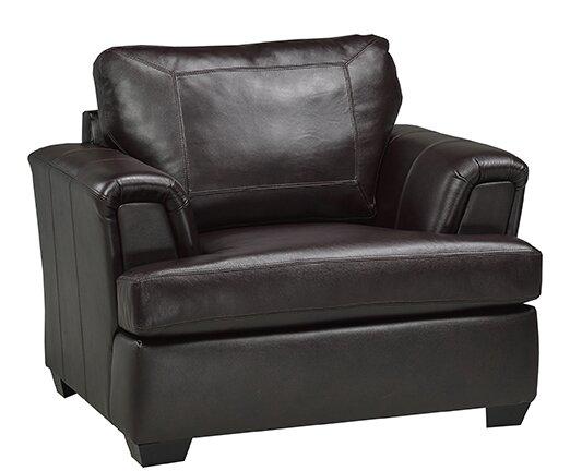 Royal Cranberry Italian Leather Club Chair