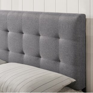 Winston Porter Charlemont Square Stitched Queen Upholstered Panel Headboard
