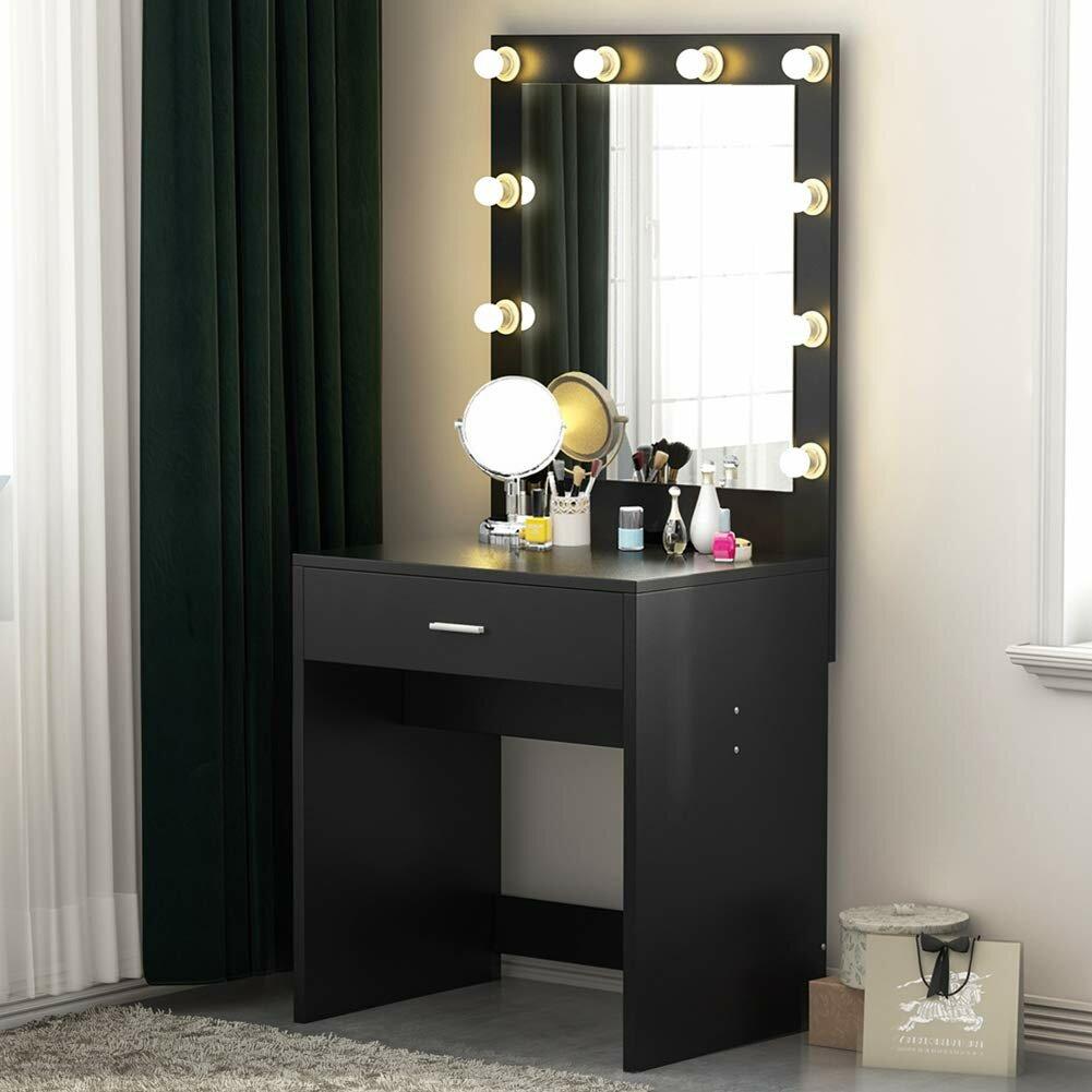 House Of Hampton Jessie Vanity With Mirror Reviews Wayfair