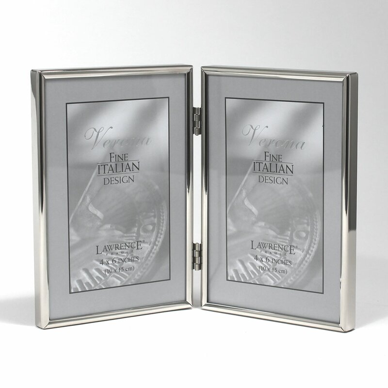 Winston Porter Bulpitt Double Hinged Simply Metal Picture Frame ...