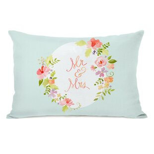 Nemorin Mr and Mrs Floral Oval Lumbar Pillow