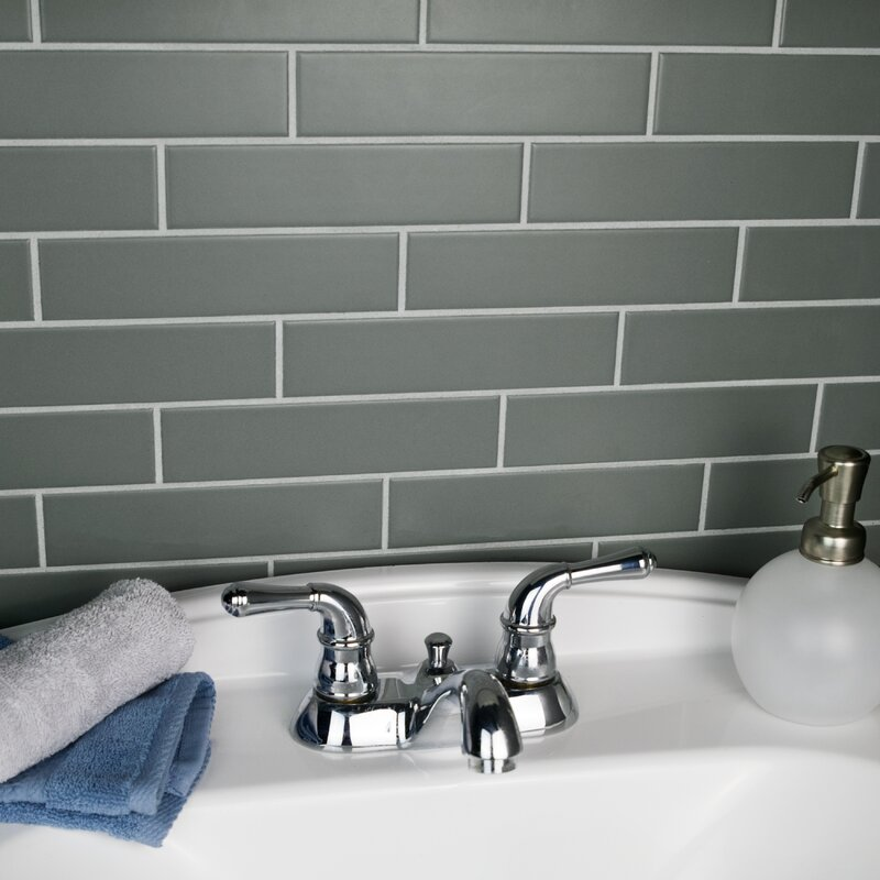 Elitetile Retro 175 X 775 Porcelain Subway Tile In Matte Gray