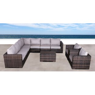 Brayden Studio Pierson Resort Double Club 10 Piece Sectional Set with Cushions
