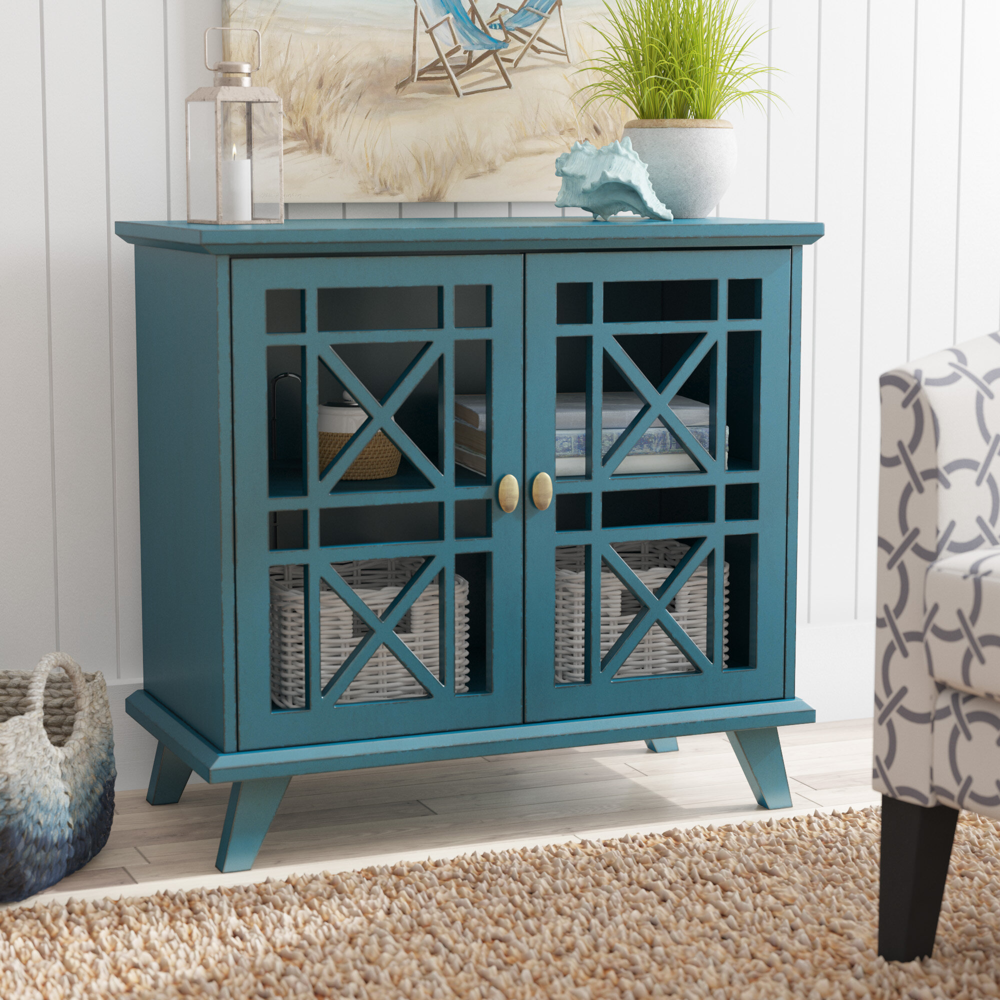 Beachcrest Home Matheus Fretwork 2 Door Accent Cabinet Reviews Wayfair Co Uk