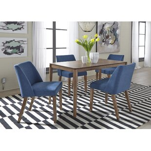 Grimmer 5 Piece Solid Wood Dining Set Ivy Bronx
