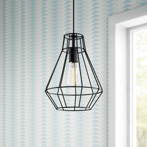 Mack Milo Harmen 1 Light Single Geometric Pendant Reviews Wayfair
