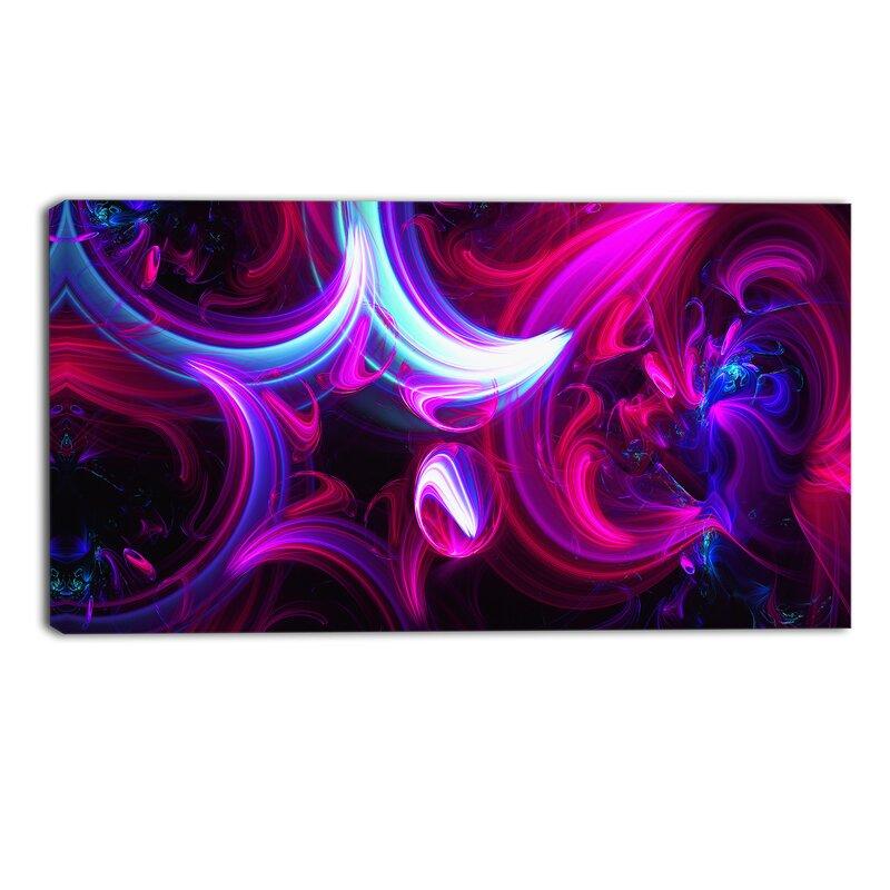 Designart Purple Haze Graphic Art On Wrapped Canvas Wayfair